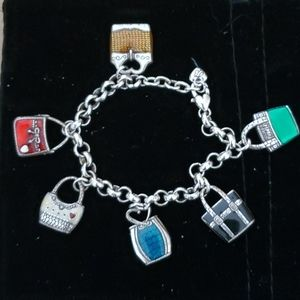 Brigjton multi colored handbag charm bracelet